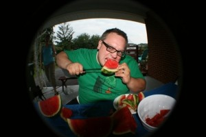 Brad - with watermelons
