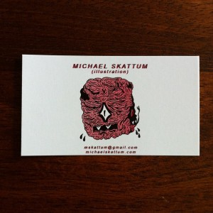 M Skattum - buisness card