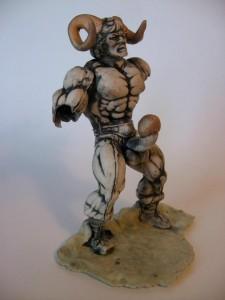 Satyr - porcelain piece