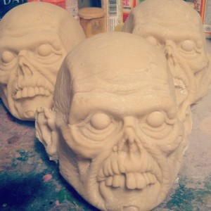 Atomic Vomit - mini masks pre paint