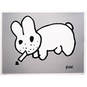 Frank Kozik - labbit drawing