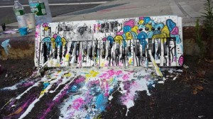 Jerkface NYC - painted keyboard
