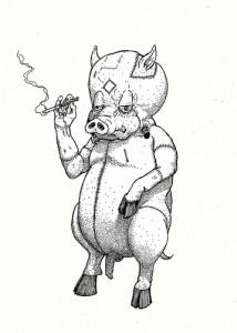 Krotpong - pig drawing
