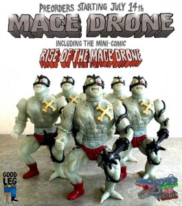 War on Prehis - Mace Drone figure ad