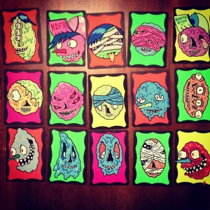 Blurble - sketch cards