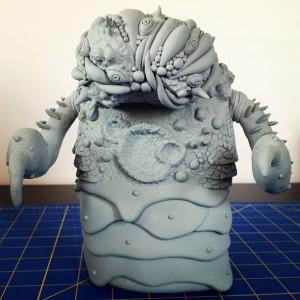 Gorgoloid - beetle kaiju sculpt 002