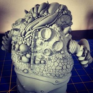 Gorgoloid - beetle kaiju sculpt 003