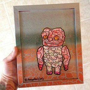 Kevin Herdeman - glass painting 001 - Grody Shogun tribute