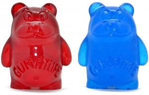 Crummy Gummy - red and blue