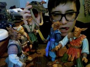 Tina Lugo - with toys