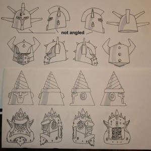 AOI toys - ION Men - head sketches