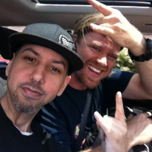 Benny Kline + Nemo driving to Suburban Vinyl for a NervisWrek show