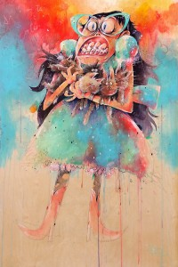 Tony Papesh - Painting - Crazy Cat Lady - 2013