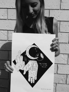 M Balaz - holding print