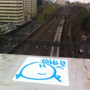 TubbyToy - Sticker - Overlooking Train Tracks