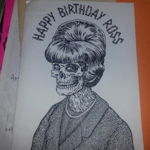 Ross Radiation - Collection - Glenno original b day card