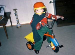 Stian-med-trehjulssykkel
