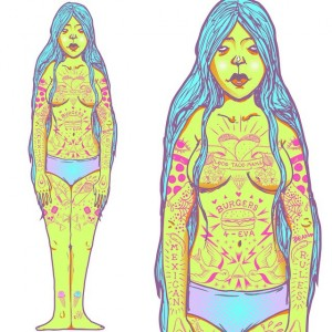 Amy Bean - Art - 006 - Mike Watt Tattoo Me Project