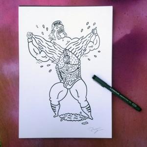 Russell Taysom - Sketch - 001