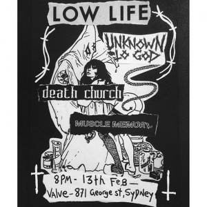 Spider Death - Death Church - Flyer